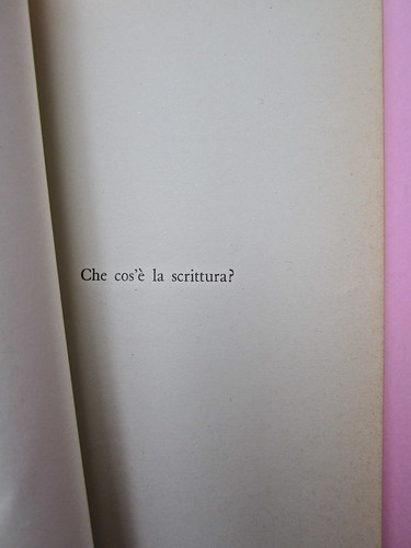 Roland Barthes, Il grado zero della scrittura. Lerici editori 1960, [progetto grafico di Ilio Negri?]. Pagina 21 (part.), 1