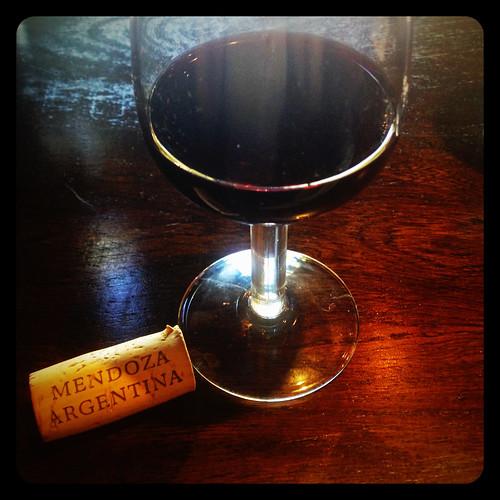 Copa de vino argentino