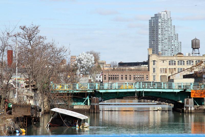 View of Gowanus Canal from Carroll Street Bridge