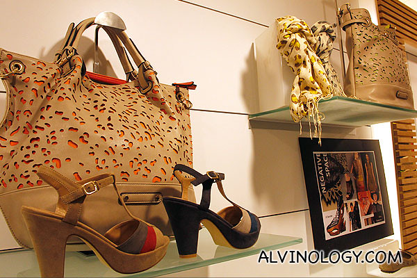 Ladies' handbags and wedges