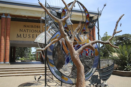 Sculpture in front of the Nairobi National Museum in Kenya