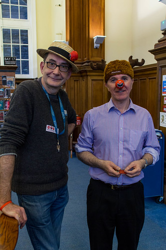 Library staff get into the red nose spirit