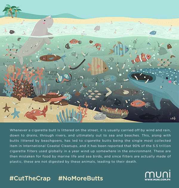 #CutTheCrap #NoMoreButts campaign poster