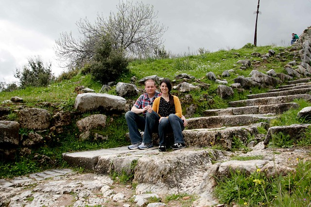 the steps leading up to the ruins at Priene