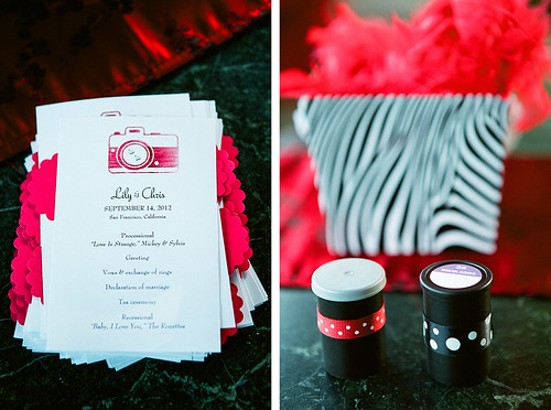 ceremony program, ring containers