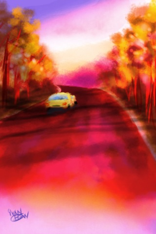"""""""Sunset Drive"""" (#52: Project 365 Sketches)"""