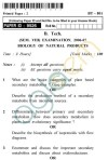 UPTU B.Tech Question Papers -BT-801 - Biology of Natural Products