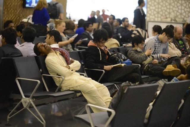 經過韓國、阿布達比,轉了兩次機,經歷將近 24 小時才到伊斯坦堡,真是疲勞而且恐怖的旅途!