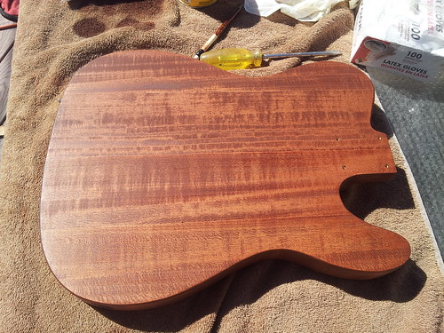 Telecaster Body: Fourth Coat