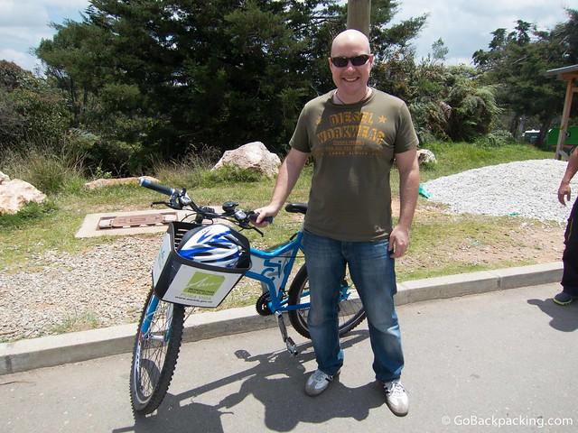 Biking in Parque Arvi