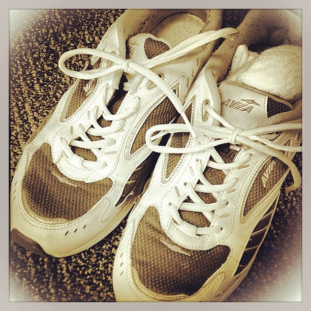 Apr 16 - lace {laces in my sneakers} #photoaday #sneakers