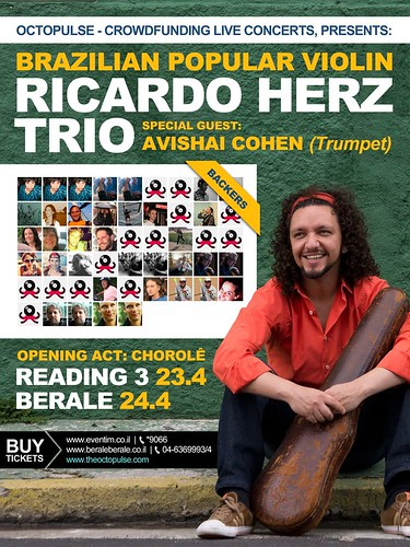 Flyer Ricardo Herz Trio in Israel