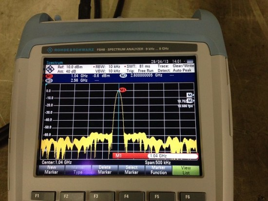 04 1040MHz filter only loss 0.6 dB