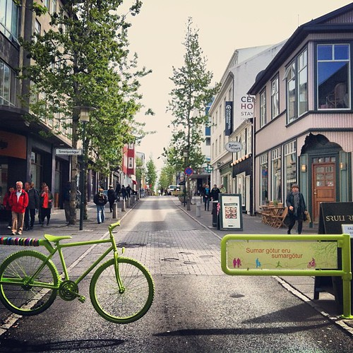 #laugavegur #101 #reykjavik #iceland #sumargötur #nocars #pedestrians #bicycle