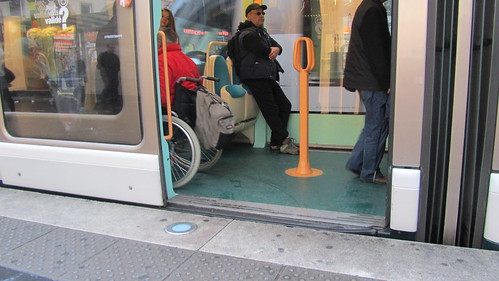 accessible tram in Strasbourg