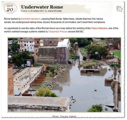 ROMA ARCHEOLOGIA e BENI CULTURALI: Roma, il marzo più bagnato dal 1782 - Sono già 17 i giorni di pioggia, IL MESSAGGERO (29/03/2013). by Martin G. Conde