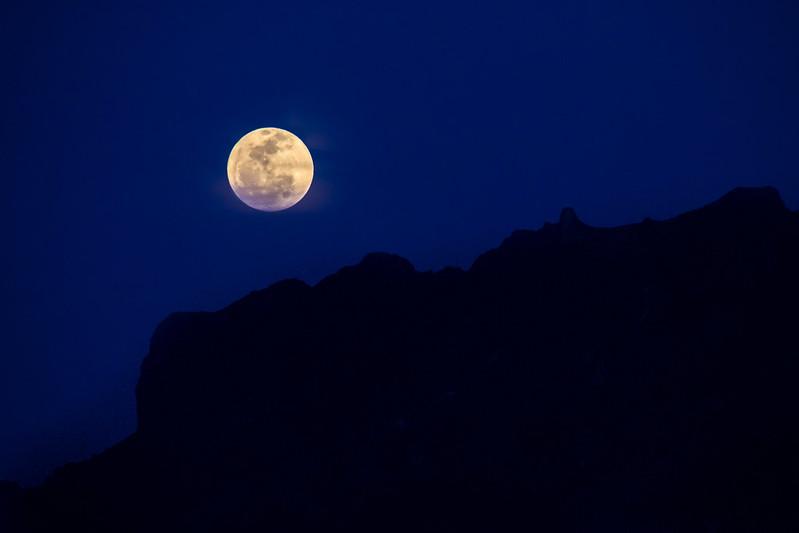 Full Moon Over Signal Peak