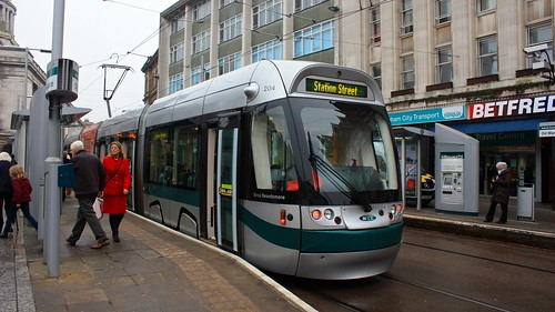 Bombardier Incentro AT6/5 tram in Nottingham