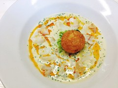 Smoked cod chowder, Whitstable, Kent