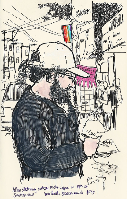 allan sketching philz coffee