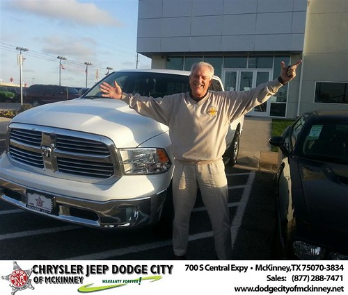 Dodge City of McKinney would like to say Congratulations to James Dickey on the 2013 Dodge Ram by Dodge City McKinney Texas