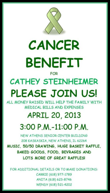 Cathey Benefit 4-20-13