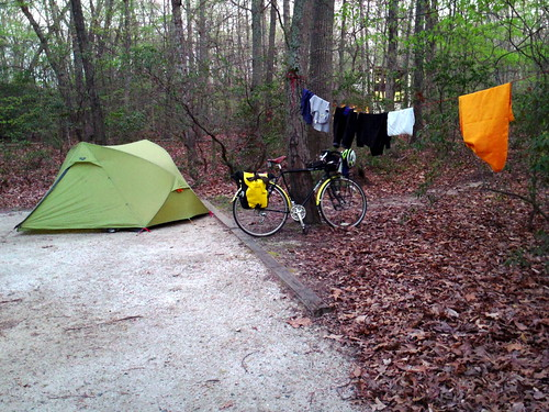 Tuckahoe State Park Bicycle Camping in MD