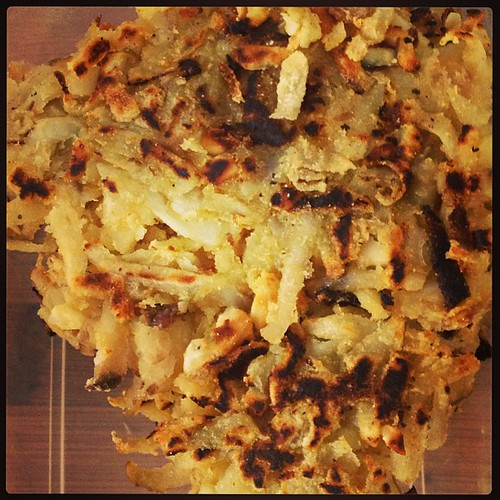 Jerusalem Artichoke & Almond Rosti to go with my soup for lunch #vegboxchallenge #abelandcole