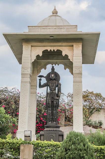 Granite Statue at the Entrance of Birla Temple Hyderabad