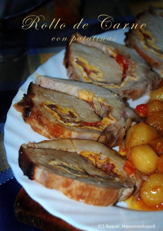 Rollo de carne con patatinas