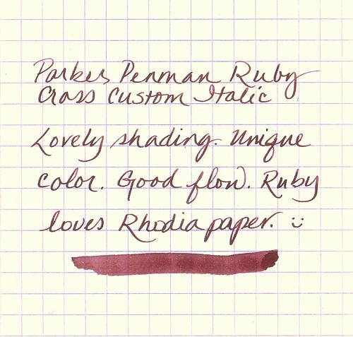 Parker Penman Ruby Ink