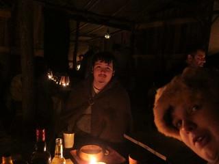 David in the tavern