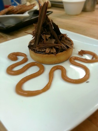 chocolate caramel tart by pipsyq