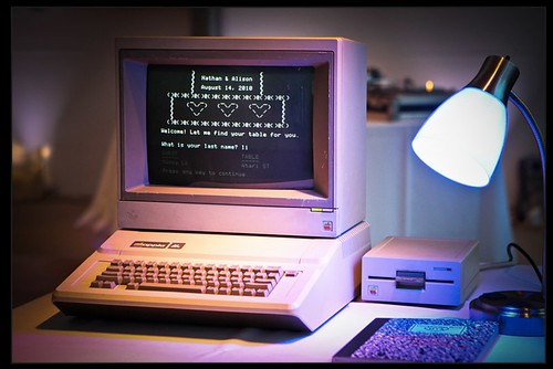 Our Apple IIe Wedding Reception Assistant