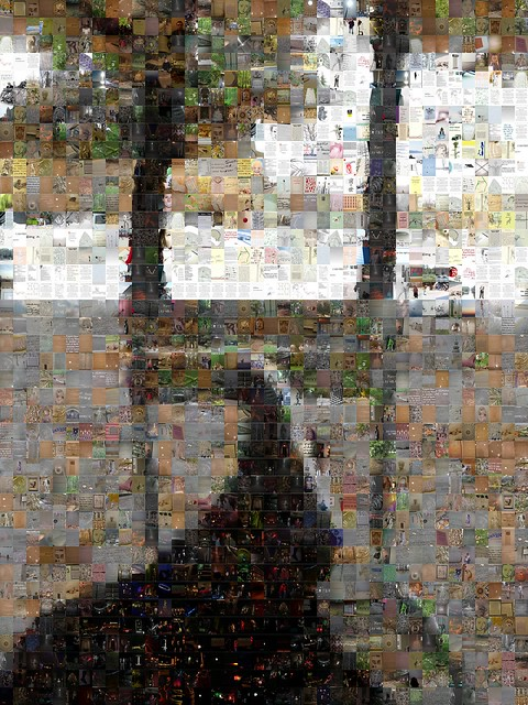 Paris, travel, mosaic, mobile learning