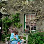 Maira and Bobbie outside Beatrix Potter's house