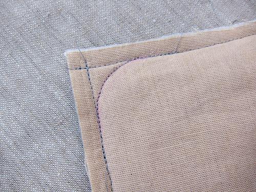 29 stitching the corners