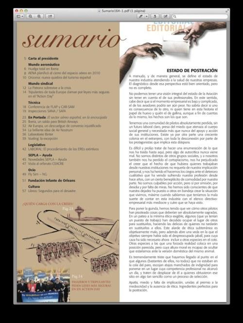 Sumario y Editorial