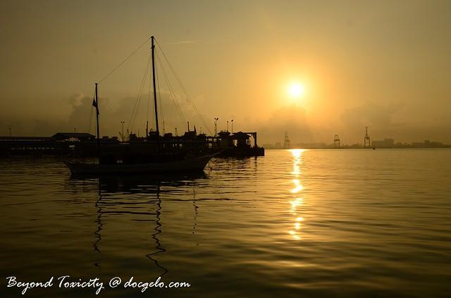 sunrise, chew jetty,