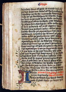Gospels, Middle English; part of the Apology on the Gospel according to John and John 1:1. England, mid-fifteenth century, f.102v