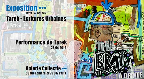 #expo #paris Ecritures urbaines :: performance de Tarek à la galerie Collectie by Pegasus & Co