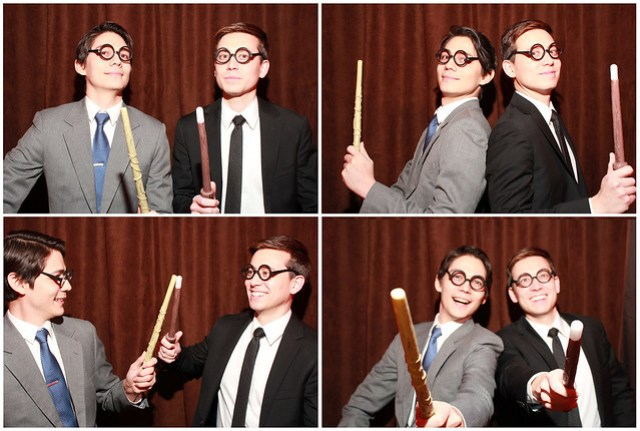 harry potter themed wedding photobooth