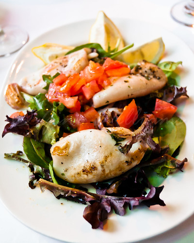 Grilled Calamari and Salad