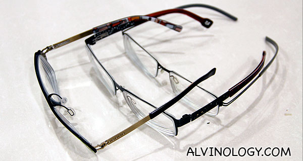 Top view from the side to illustrate how slim all the frames are