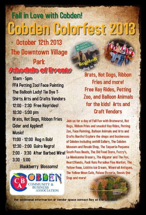 Cobden Colorfest 10-12-13