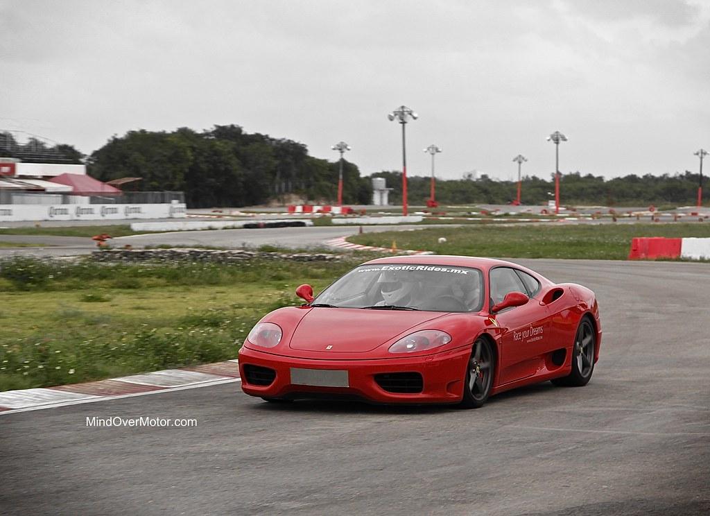 Ferrari 360 Modena on the track