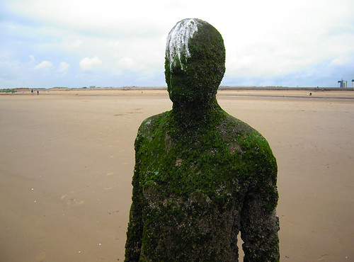 Antony Gormley's Another Place, Crosby beach, UK