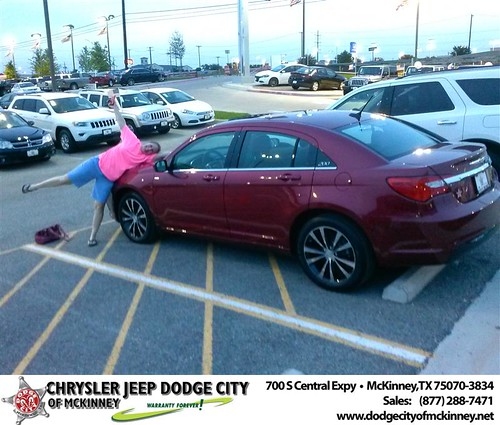 Dodge City of McKinney would like to say Congratulations to Craig Craft on the 2013 Chrysler 200 by Dodge City McKinney Texas