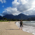 Walking Hanalei Beach
