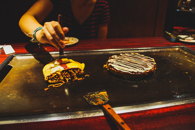 Okonomiyaki night Osaka